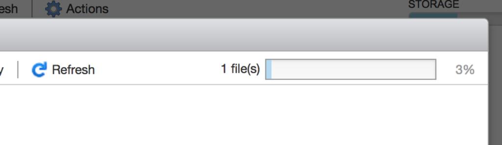 """Figure 12 : Cliquer sur """"Upload"""" et sélectionner l'ISO Debian téléchargée précédemment."""