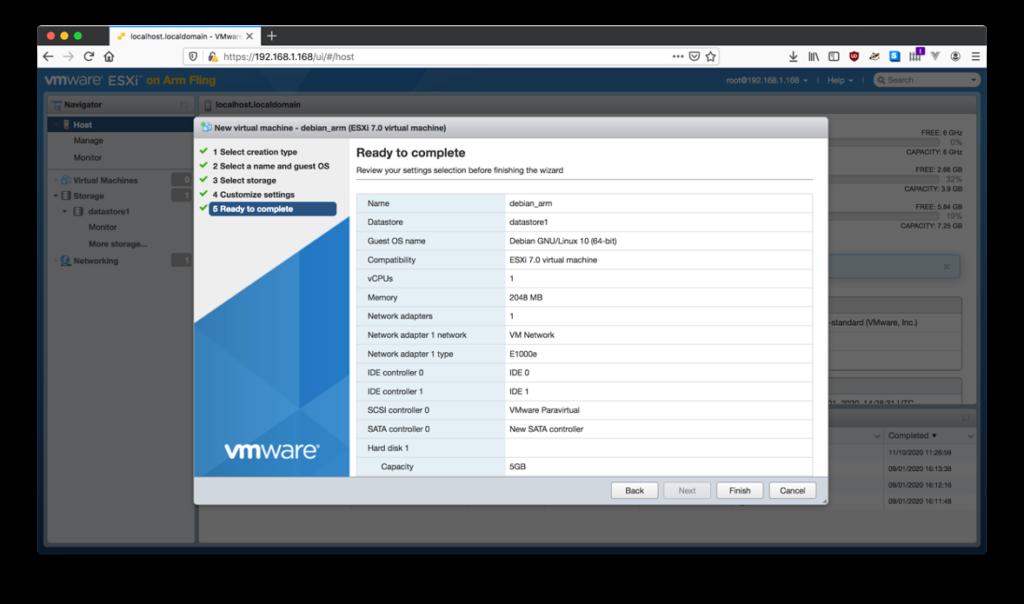 Figure 19 : Finalisez la création de la VM et attendez que la machine virtuelle soit créée